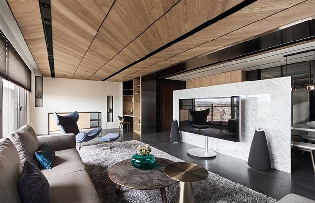 黑胡桃拉丝木饰面板,小隐于家,温暖一域