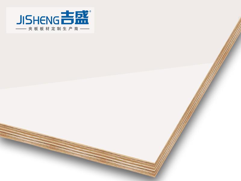 高光LCT3004暖白色橱柜门板材吉盛定制板材厂