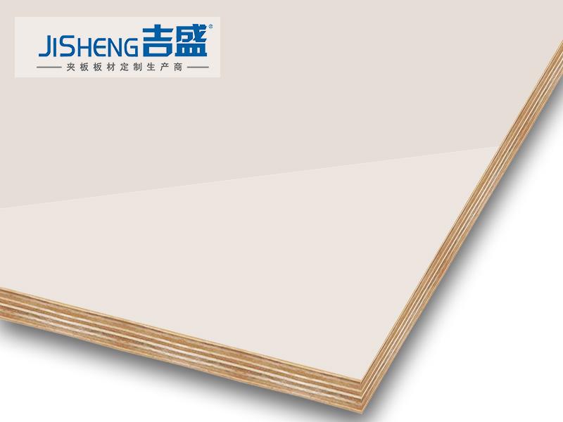 高光纯白色橱柜门板材吉盛LCT3006