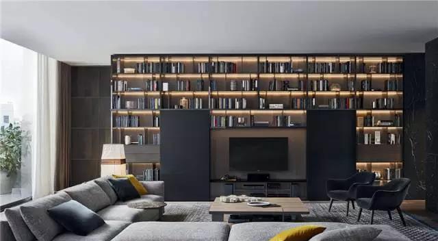吉盛白橡拉丝木饰面板,天然木饰面客厅背景墙板系